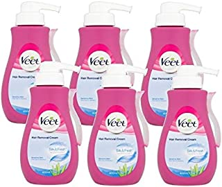 Veet Hair Removal Cream Pump 400ml (6 Pack