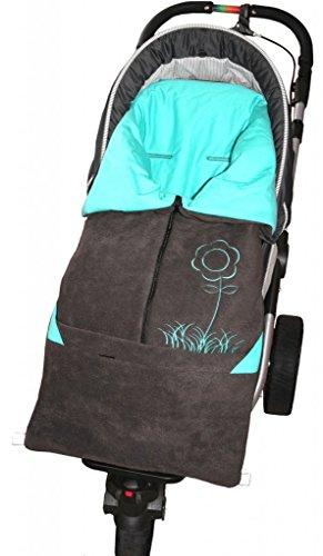 ByBoom Baby Fußsack 2in1 Frühjahr, Sommer, Herbst, Universal für Babyschale, Autokindersitz, z.B. für Maxi-Cosi, Römer, für Kinderwagen oder Buggy