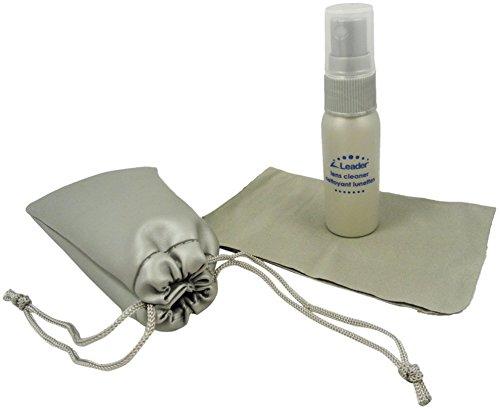 LEADER Travel Purse Eyeglass Goggles Lens Cleaner Pump Spray 1oz 30ml Cloth & Pouch