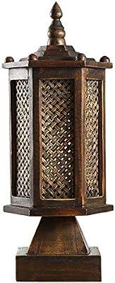 Zenghh 熱帯雨林テーブルデスクライト農家漁師リビングベッドルームベッドサイドスタディオフィスデスクトップランプ、竹編み快適でソフトな明るいランプシェード、手仕上げギフト