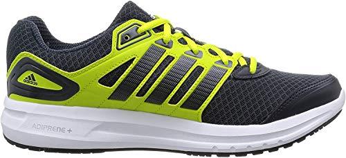 adidas Herren Duramo 6 Laufschuhe, Schwarz (Dark Grey/Core Black/Semi Solar Yellow), 44 2/3 EU