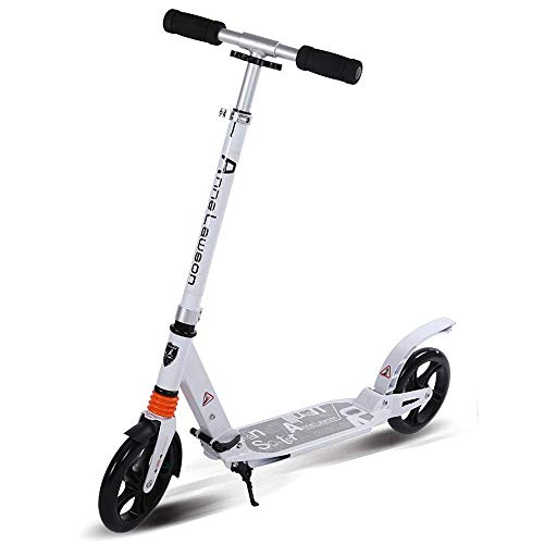 Adult Folding Scooter with Light Weight Large 20mm Wheels, Max Speed 10km/h, Kick Knee Scooter Pedal Up to 120 kg Best Gift