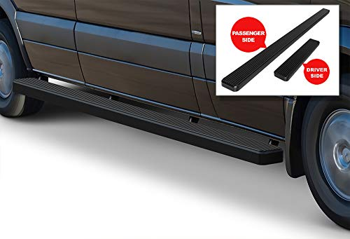 APS iBoard Running Boards (Nerf Bars Side Steps Step Bars) Compatible with 2007-2009 Dodge Sprinter Full Size Van & 10-18 Mercedes-Benz Sprinter (Black Powder Coated 5 inches)