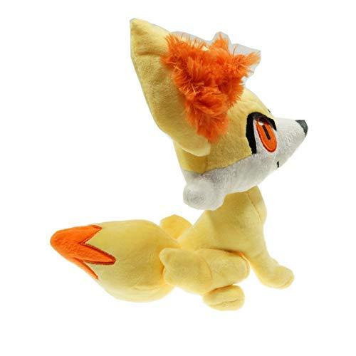 Wjfijz Juguete de Peluche de Anime Fennekin Fire Ear Fox Animal de Peluche Juguetes para bebés para niños Regalo de cumpleaños 23cm Amarillo