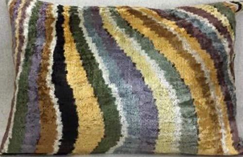 Ikat Cushion - (Velvet, 60x40cm)