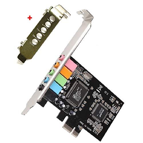 Tarjeta de Sonido de Audio de 5.1 Canales, chipset, Tarjeta de Sonido Digital de Audio, Sintetizador de música Wavetable de Base DLS, práctico