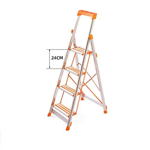 Escalera plegable Las escaleras de tijera de acero inoxidable, herramientas multiuso Las escaleras de tijera hogar banda de rodadura 4 Escalera plegable/con antideslizante Multifuncional