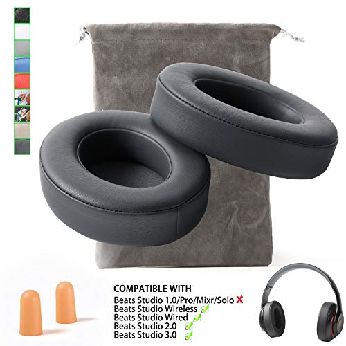 EARSUN Replacement Beats Studio 2 Beats Studio 3 Wireless Ear Cushions Pads muff for Over Ear Headphones Wireless B0501 Wired B0500 (Not Compatible Any Other Models !!!) - Titanium