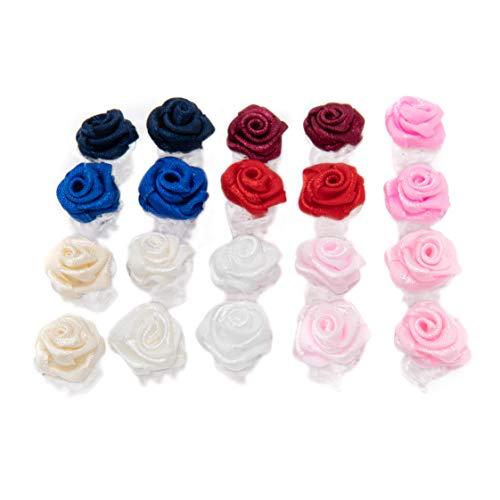 Haarklammern mit Rosen, klein, 20 Stück