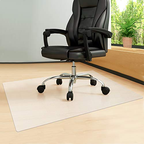 """Crystal Chair Mat, 47""""×38"""" Floor Mats , 1/12 Inch Thick Office Chair Mat Protector, Chair Mats for Carpeted Floor, Chair Mat for Hardwood Floor, Anti-Slip Pads, Office Chair Mat Flat Without Curling"""