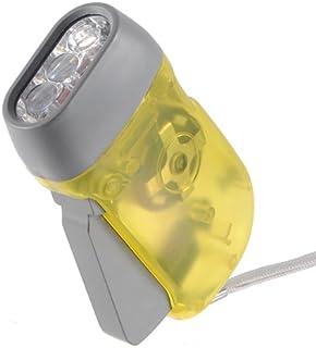 3 LED mano Light Camping linterna con dinamo lámpara Flashlight Torch amarillo