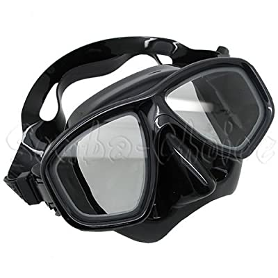 Scuba Choice Diving Dive Snorkel Mask Nearsighted Prescription (-1.0) RX Optical Corrective Lenses, Black