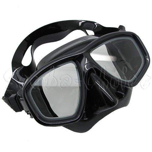 Scuba Choice Black Diving Dive Snorkel Mask Nearsighted Prescription RX Optical Corrective Lenses, -3.0