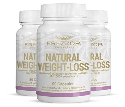 FREZZOR Weight-Loss Supplement 3-Pack, All-Natural New Zealand Superfoods, Carbohydrate Blocker, Fat Burner, Metabolism Booster, Appetite Suppressant, Improves Digestion, Bloat Relief, 270 Capsules