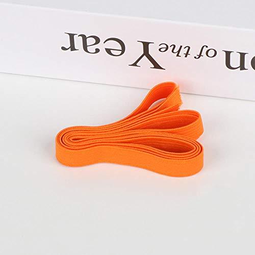 Aiyow Elastisch naaien, elastisch koord/elastisch/elastisch koord/bungee/elastische spoel voor naaien, breien, thuis en op kantoor en kunst en doe-het-zelf.Oranje 1 cm * 5 m