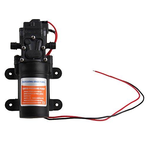 CarBole Bomba de agua autocebante de 12 V CC: 4,3 l/min, 35 psi, bomba de agua de alta presión, válvula inteligente (con interruptor de presión).