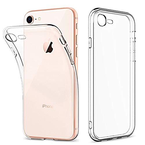 Amonke Cover per iPhone 7 iPhone 8 - TPU Silicone Trasparente Protettiva Custodia Antiurto, Ultra Chiaro e Leggera Sottile Morbido Anti-Graffio Case compatibile per Apple iPhone 7 iPhone 8 (4,7')