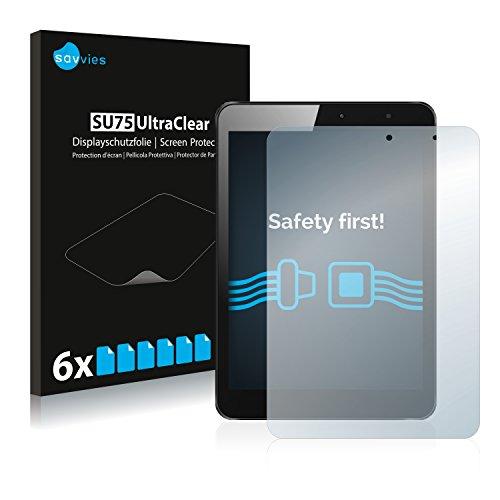 Savvies 6X Schutzfolie kompatibel mit Xoro TelePAD 795 Bildschirmschutz-Folie Ultra-transparent