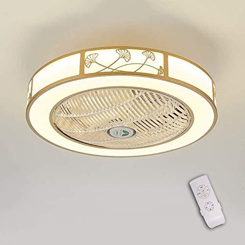 Deckenventilator Licht, LED Dimmbar Fan Deckenleuchte Moderne Deckenlampe, Deckenventilatoren mit Licht und Fernbedienung, Metall, 72 W, 60 cm Durchmesser, Schlafzimmer Wohnzimmer Beleuchtung