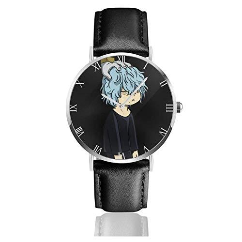 Relojes Anolog Negocio Cuarzo Cuero de PU Amable Relojes de Pulsera Wrist Watches Mi héroe Academia-Shigaraki Tomura