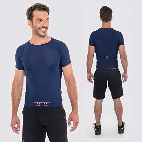 FIT T-Shirt PERCKO Manches Courtes Bleu Marine pour Homme