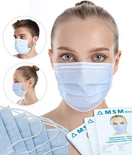 MSM Mund und Nasenschutz Maske - Medizinische Maske mit Maskenhalter Typ II 98% BFE...