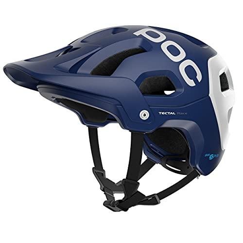 POC Tectal Race SPIN, Casco da Bici, XL-XXL (59-62 cm), Blu/Bianco (Lead Blue/Hydrogen White Matt)