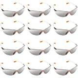 <span class='highlight'><span class='highlight'>Kurtzy</span></span> 12 Pack of Wrap Around Safety Glasses with Grey Tinted Lenses and Rubber Nose and Ear Grips for a Safe Fit - Personal Protective Equipment, Scratch Resistant Eyewear Lenses - PPE Safety Goggles