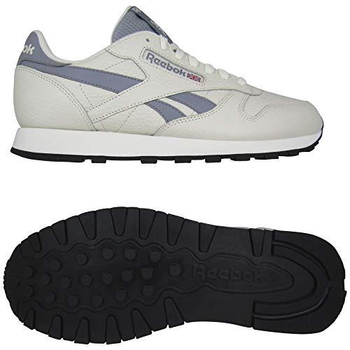 Reebok Herren Cl Leather Mu Gymnastics Shoe, Chalk/Cold Grey 4/Black, 42 EU