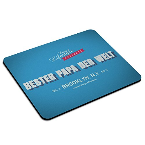 Mousepad mit Namen Bester Papa der Welt personalisiert - Motiv Retro 6 - Namensmousepad, personalisiertes Mauspad, Gaming-Pad, Maus-Unterlage, Mausmatte