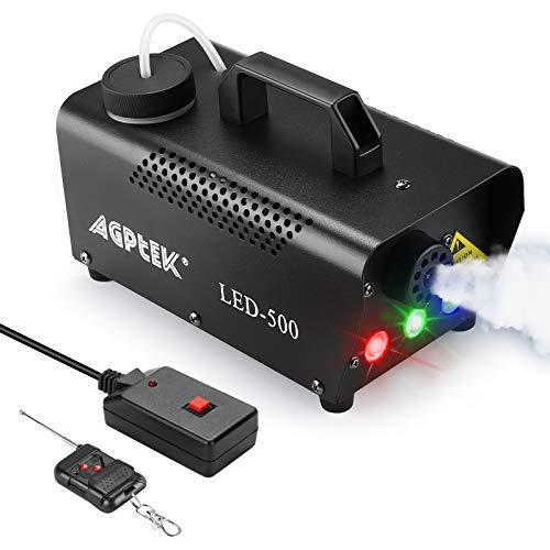 Nebelmaschine, AGPtEK Nebel Maschine mit kabelloser Fernbedienung UND aktiviertes LED Licht, 500 WATT Stabil & Tragbar, Passend für Halloween, Weihnachten, Hochzeitsfeiern & Bühnenauftritte usw - 6