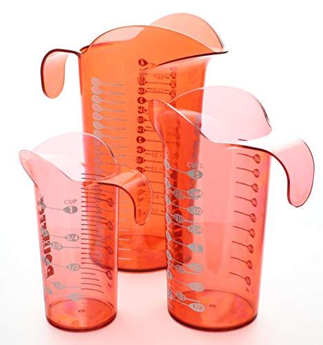 Pourfect - Set di bicchieri da 1, 2 e 4 tazze 1,2 and 4 Cup Rosso