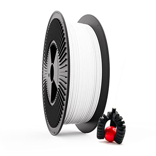 Filamento Elástico TPU FILAFLEX 60A PRO Dureza Shore/El más elástico (mejor que flexible)/Apto para los más expertos en impresión con flexibles en impresoras 3D (2.85 mm 3 kg. Blanco)
