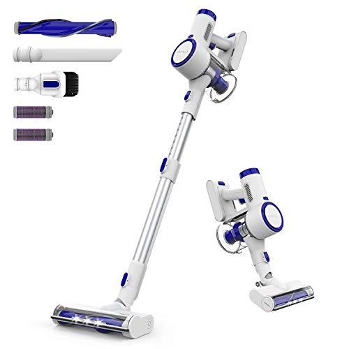 ORFELD Cordless Vacuum, 18000Pa Stick Vacuum Cleaner, 200W Digital Motor Stick Handheld Vacuum, Pro Max Filtration with Unique Air Outlet HEPA for Carpet, Hard Floor & Pet