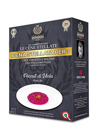 Box Le Cene Stellate - Risotto Peccati di Viola - Cofanetto Cena Michelin per 2 / 3 Persone