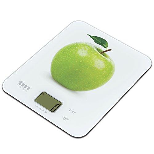TM Electron Bilancia Digitale da Cucina Motivo mela bianco