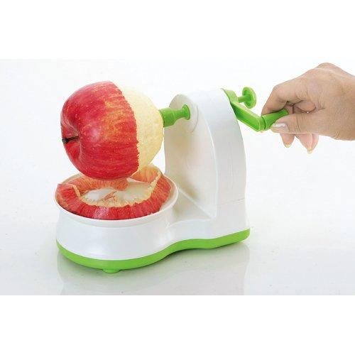 下村工業日本製クルクルりんごの皮むきグリーン/ホワイト味わい食房ARK-691新潟燕三条製ARK-691