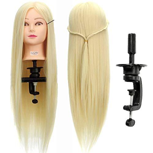 Capo parrucchiere LuckyFine 26 '' Barbiere/Testa per lo styling con capelli lunghi/Sintetico