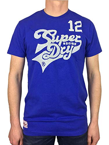 Superdry Curve 12 Entry T-Shirt blau/weiß Gr. XL, blau