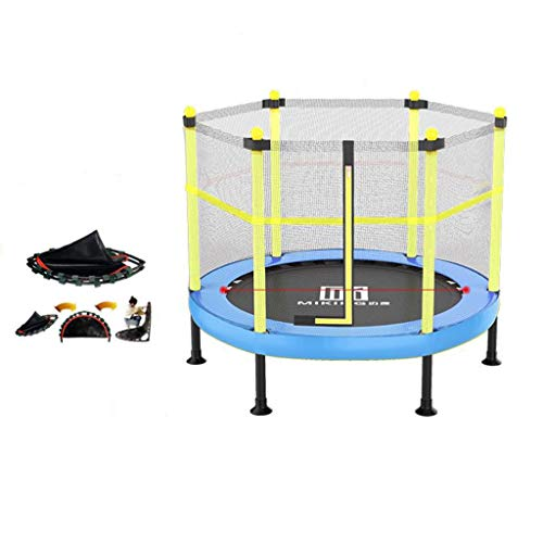 M-YN Trampoline Indor Outdoor with Net Safety Enclosure Springs Gymnastics Equipment for Home Exercise Fitness Work-out (Color : Yellow, Size : 1.21M)