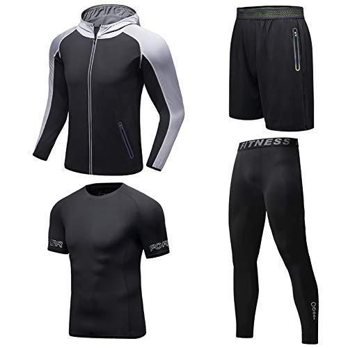XIAMIMI Laufen Männer Anzug Gym Fitness Compression Sport Anzug Kleidung Jogging Sportbekleidung Übungs-Trainings-Strumpfhosen,B,XXXL