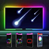 DreamColor LED TV Hintergrundbeleuchtung, Innonly Bluetooth Lichterkette 3.3m für 40-60 Zoll TV / PC, App-Steuerung und IR Fernbedienung, RGBIC Musik synchronisierung [ Energieklasse A +]