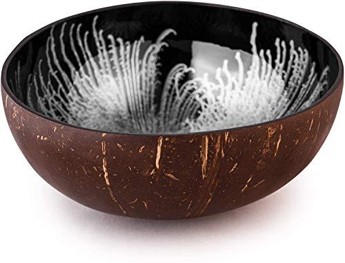 ccocovibes Coconut Bowl, Kokosnuss Schale, Buddha Deko Schüssel, handgemacht, lackiert Splash silber
