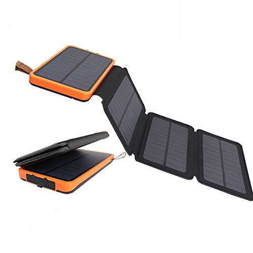 HGYJ Cargador Solar De 10000 Ma, Apto para Todos Los TeléFonos MóViles Y Tabletas. Es Compatible con Otros Productos Digitales con Entrada USB Dc-5v,Black