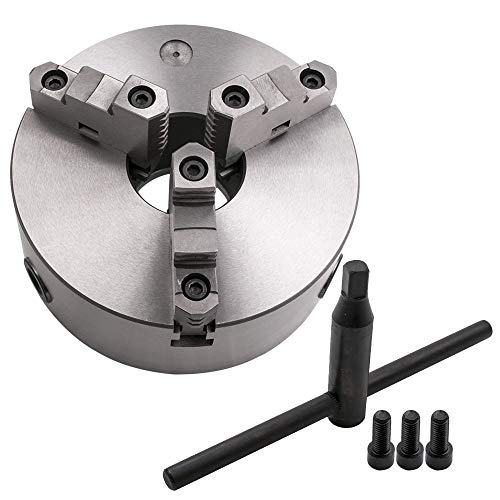 maXpeedingrods 8 Inch 3 Jaw Lathe Chuck Self-Centering Milling K11-200A 200mm for Grinding Drilling Woodworking