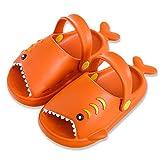 Toddler Clog Slippers Sandals, Shark Sandal Clogs Girls Boys Slide Lightweight Garden Shoes Slip On Shoes Water Shoes Clogs for Beach Pool Shower Slippers,SYTX01,Orange,150