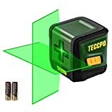 TECCPO Laser Level, Self Leveling, Green Cross Line Laser, 50ft Laser Tool, Tilt mode,±3mm/10m Leveling Accuracy, Laser Level for Construction, Picture Hanging, Home Renovation