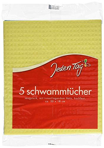 Jeden Tag Schwammtuch, 1er Pack (1 x 5 Stück), 210 g