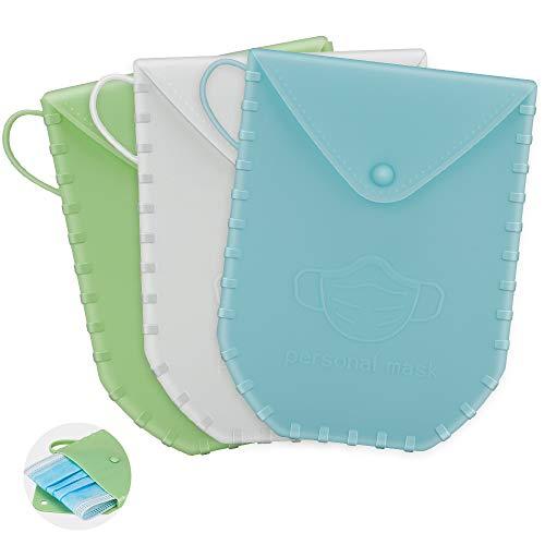 3 piezas almacenamiento de mascarillas, caja de almacenamiento de mascarillas antipolvo,Estuche para almacenar mascarillas.Protege tus mascarillas de la suciedad y el polvo.