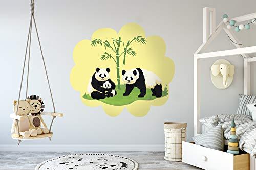 Vinilo Decorativo Pared Infantil   Oso Panda   Varias Medidas 100x90cm   Adhesivo Resistente y de Facil Aplicación   Multicolor   Pegatina Adhesiva Decorativa de Diseño Elegante